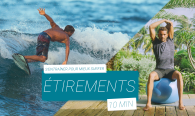 étirement stretching surfeurs
