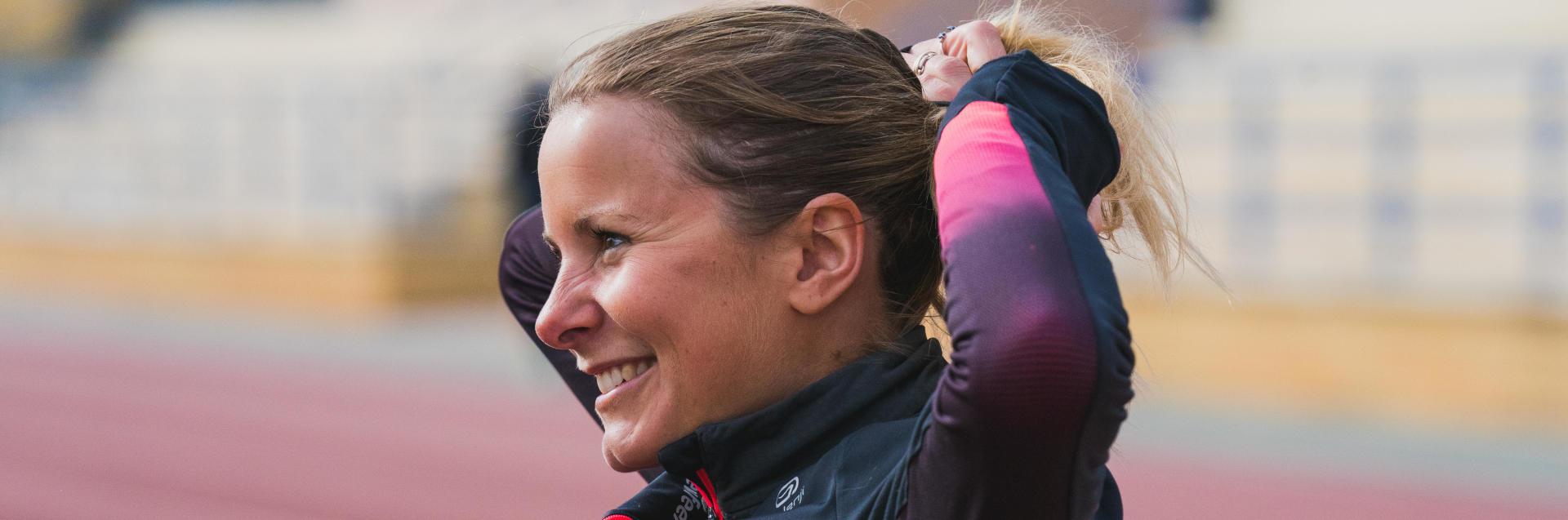 Emilie Menuet, championne de France du 20km Marche Athletique