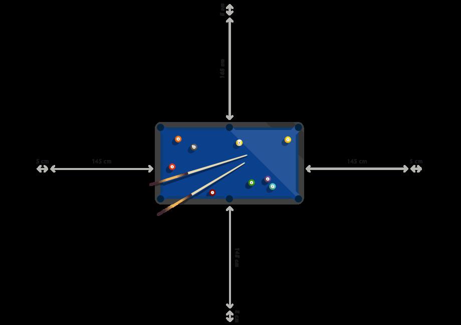 Dimensions billard Decathlon : espace nécessaire