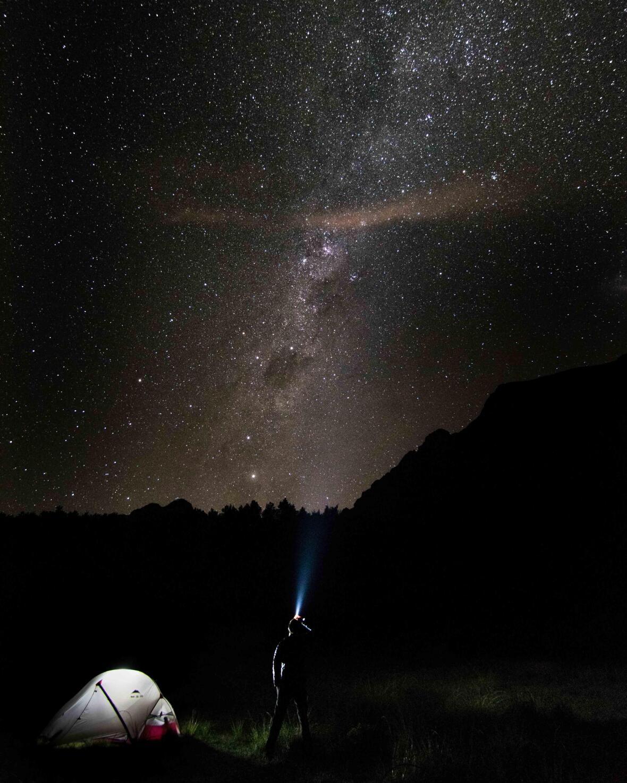 photo d'un ciel étoilé à Mafate