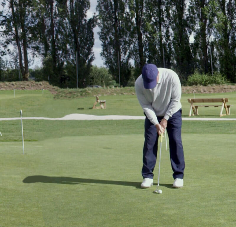 Golf-Thomas-Levet-Putting-Débutant