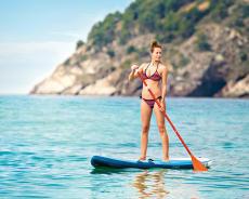 Stand up Paddle Board aufblasbar 11' für gelegentliche Touren auf dem See