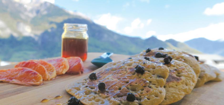 recette pancake myrtilles popote randonnee quechua decathlon