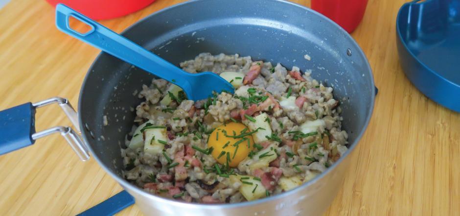 recette croziflette popote randonnee quechua decathlon
