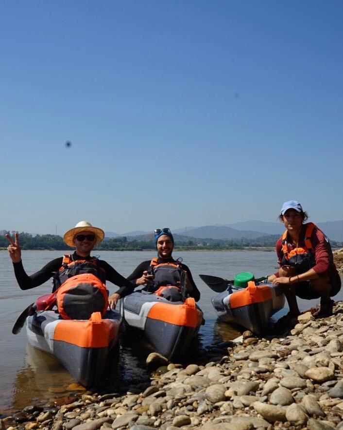 descending the mekong inflatable kayak