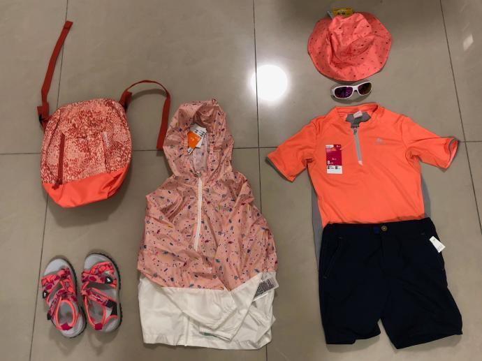 跟著晨晨登山隊來一趟夏日親子健行 迪卡儂兒童防曬健行裝備