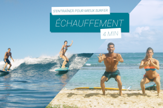 échauffement session de surf