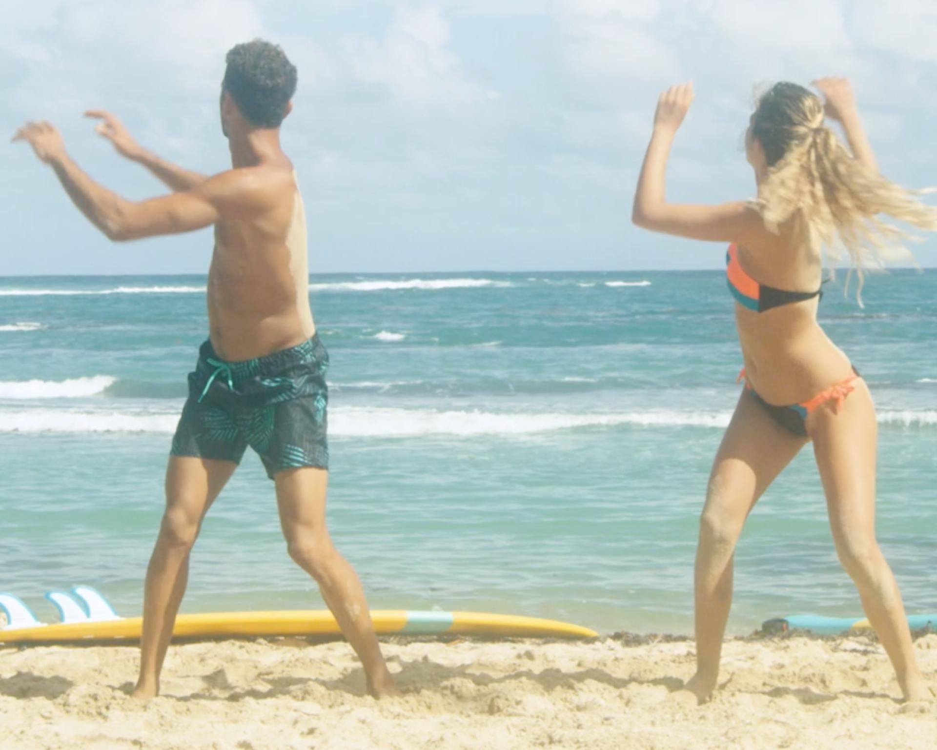 flexion tronc en surf échauffement
