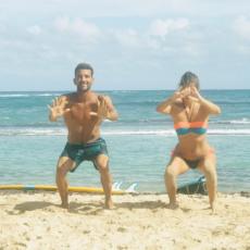 squats et flexions avant le surf