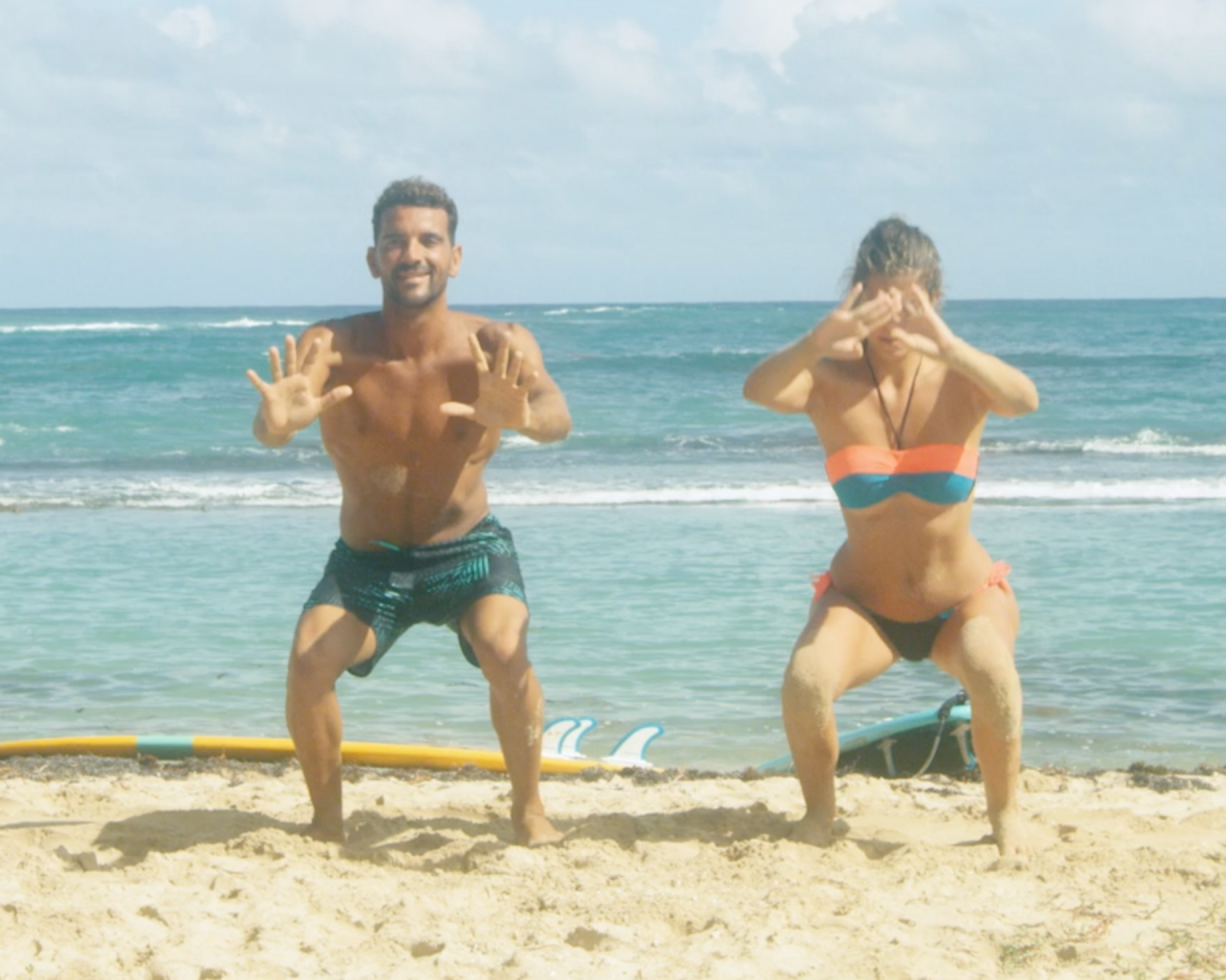 pompes pour s'échauffer en surf