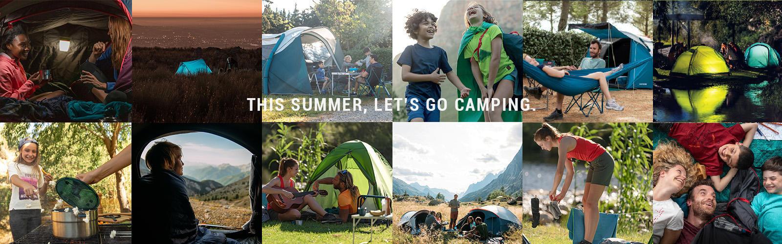 this summer let's go camping mountain hiking quechua decathlon