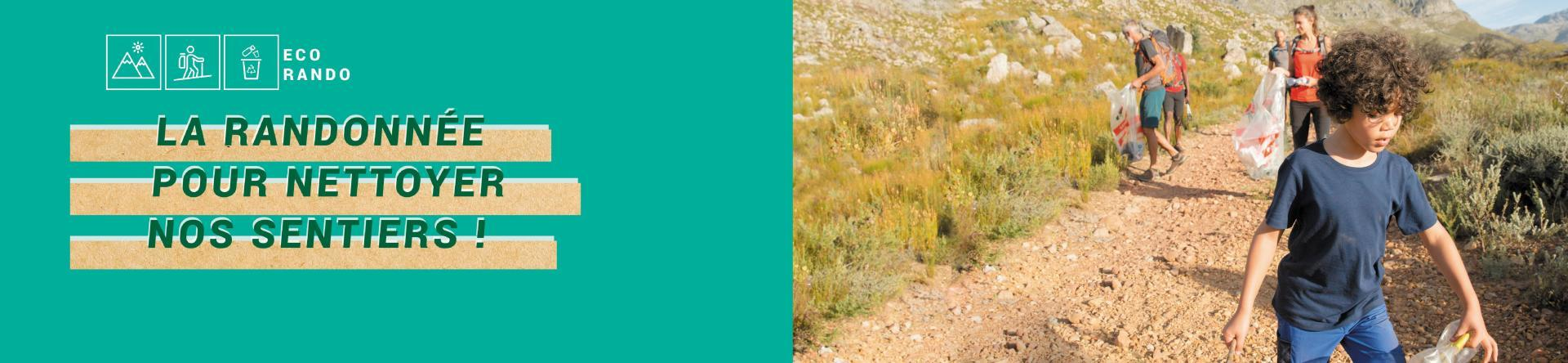 eco randonnee ramasser dechets sentiers montagne quechua decathlon