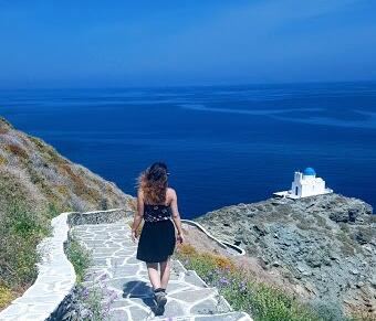backpacking trip visit to sifnos