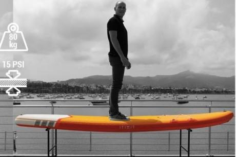test-rigidite-stand-up-paddle-gonflable-itiwit-by-decathlon-x100