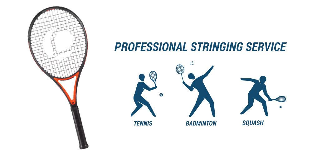 Professional stringing service - Tennis, Badminton, Squash