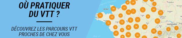 Trouvez les parcours VTT près de chez vous