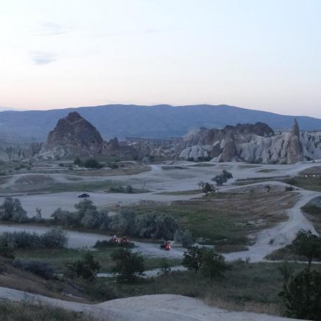 Vallée de spigeons près de Göreme en Cappadoce