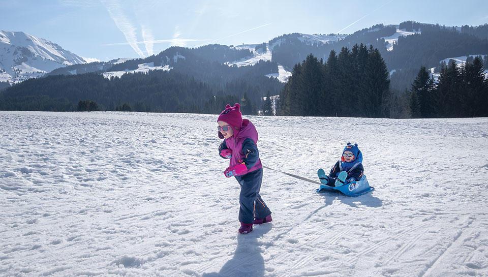Offre bébé à la neige