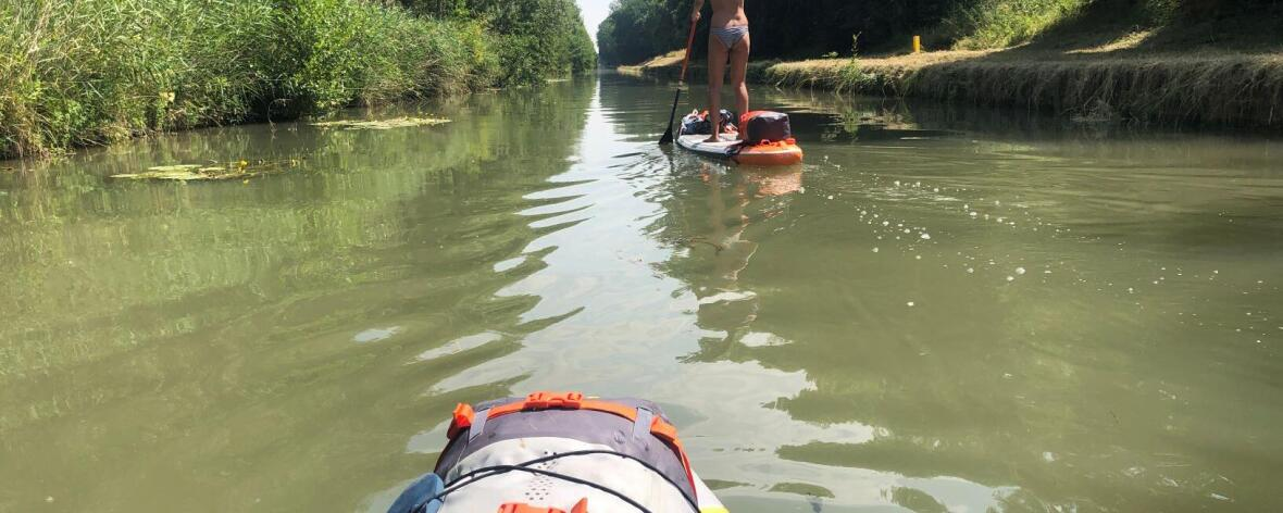 stand up paddle france trip