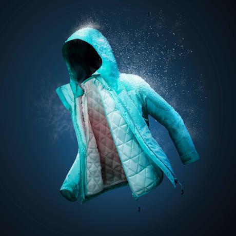 Een winterjas met drie lagen