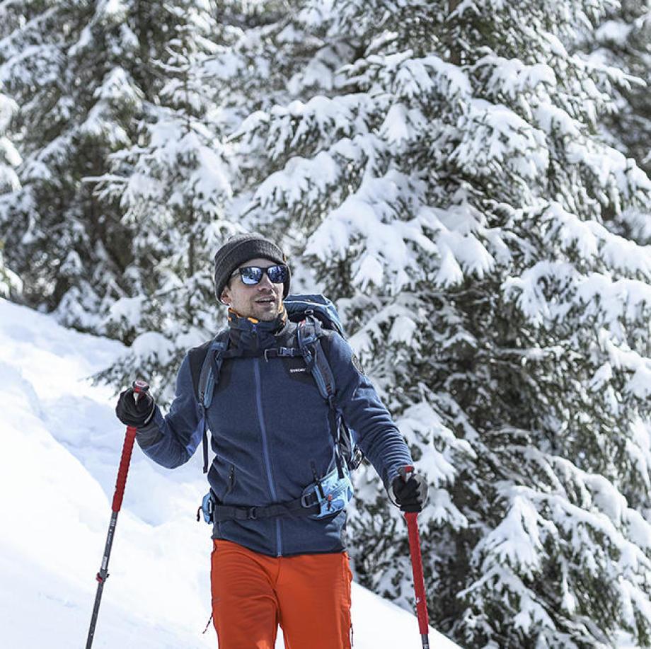 La randonnée neige exposant sur la Grande Odyssée Savoie-Mont-Blanc