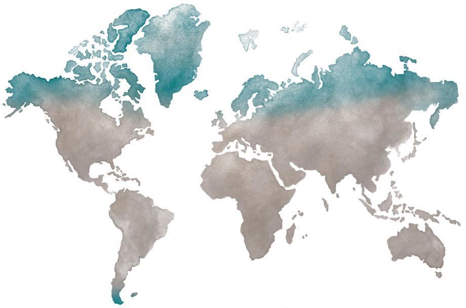 carte des destinations polaires