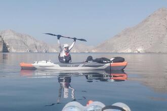 kayak trip arabian fjords