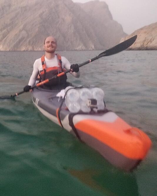 inflatable kayak trip arabian fjords