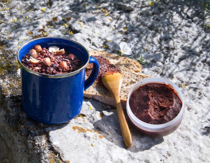 recette pour un trek : la crème au chocolat