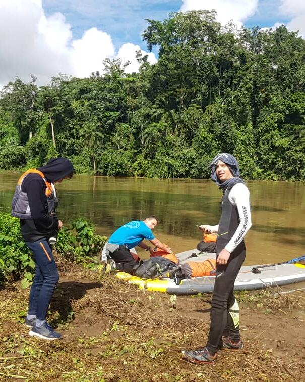 stand up paddle descente wouri