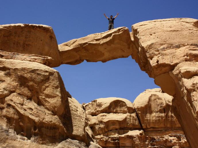 arche de pierre désert de wadi rum