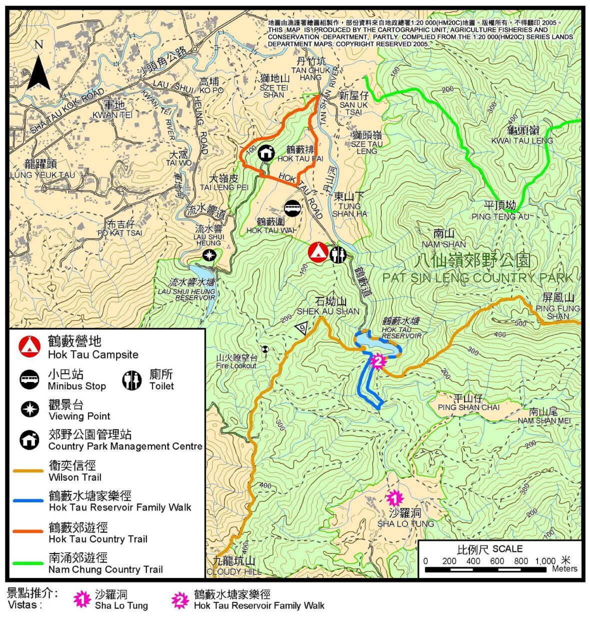 鶴藪營地地圖