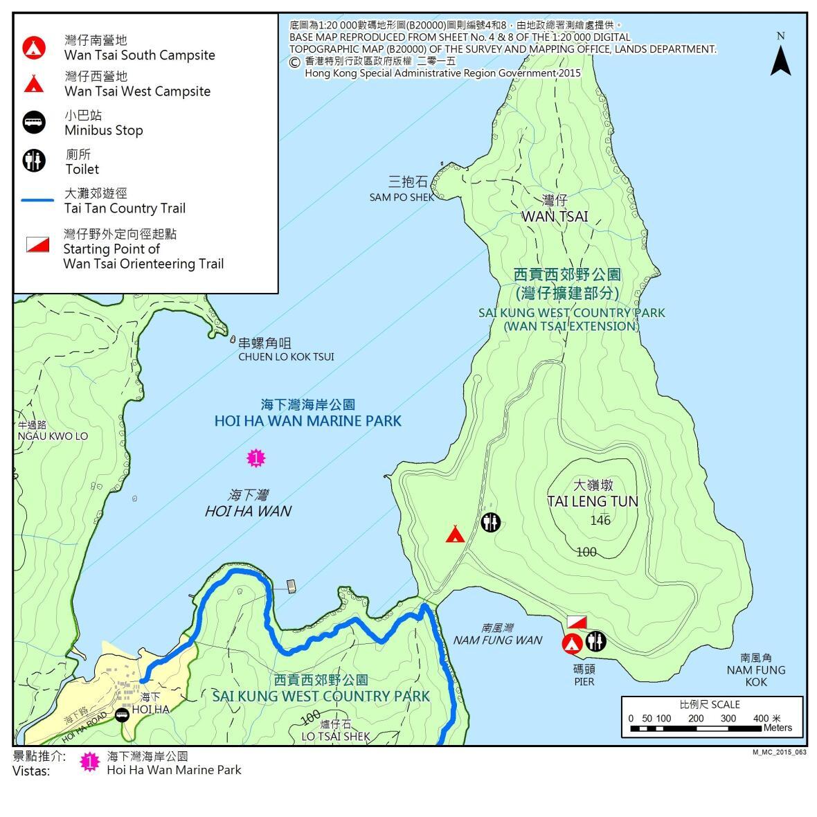 灣仔營地地圖
