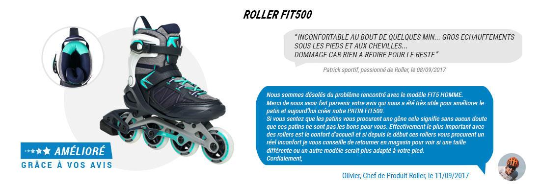 roller fit500 bleu oxelo