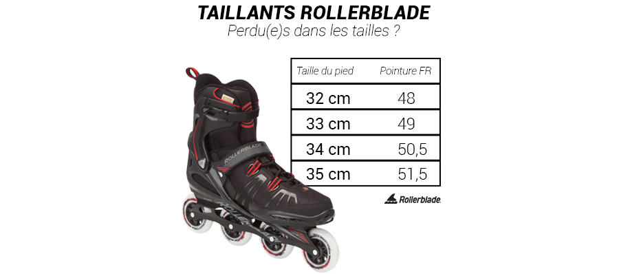 taille rollerblade XL