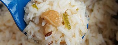 Recipe / Coconut cashew pilau rice
