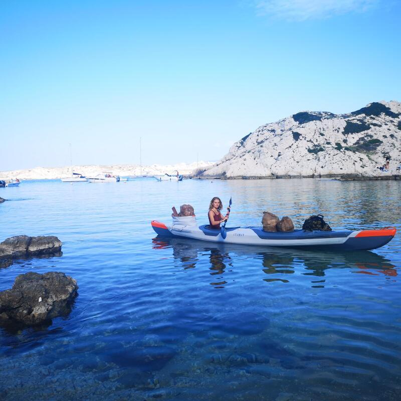 ramassage de déchets en méditerranée en kayak