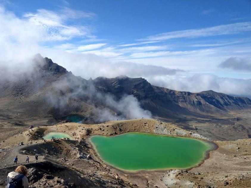 紐西蘭魔戒末日火山健行:翡翠湖