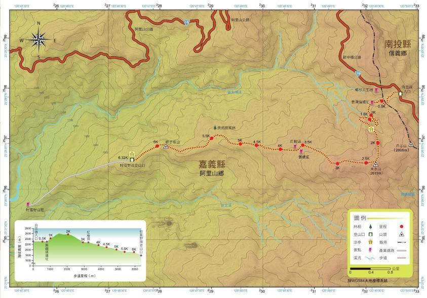 特富野古道健行路線(照片來源:台灣山林悠遊網)