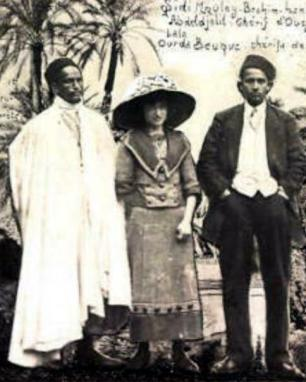 Sidi Moulay Brahim ben Moulay Tayeb ben Abdel Djellil chérif d'Ouezzan et sa femme Lala Ourda Beuque cherifa de la Zaouïa de Taï
