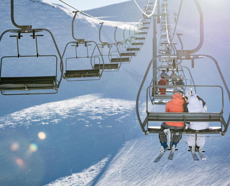 The ski lifts - title