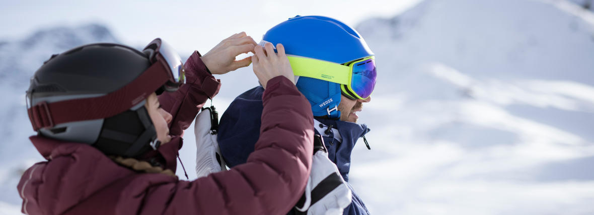 pairing your goggles with your ski helmet with wed'ze tips