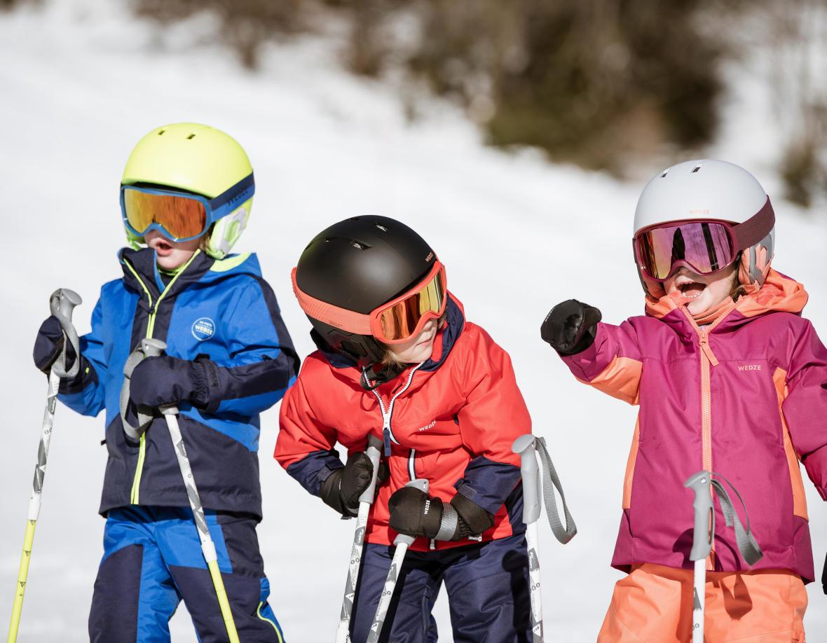 le casque de ski pour les enfants