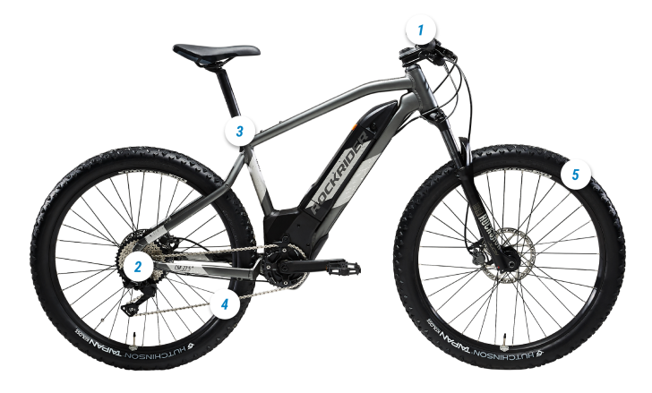 ROCKRIDER E-ST 900 HOTSPOT MOUNTAIN BIKE
