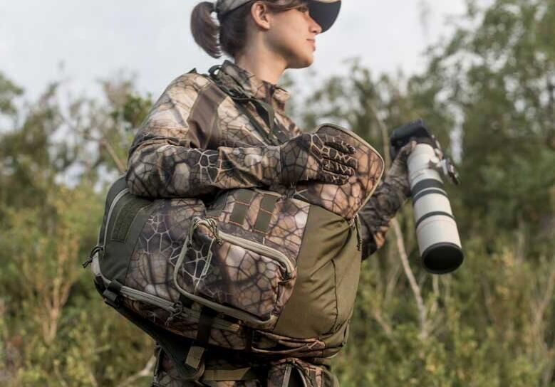 femme qui chasse