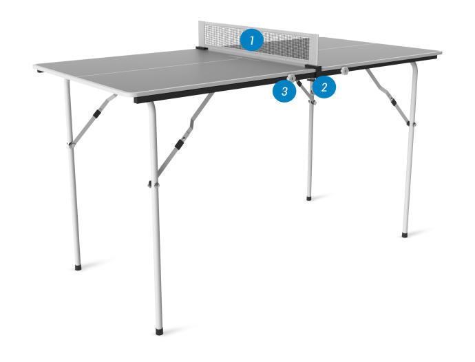 Tischtennisplatte PPT 130 small indoor Kundendienst DECATHLON Pongori