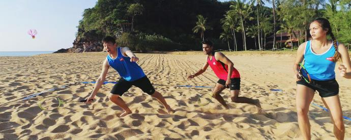 air badminton plage