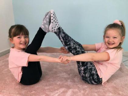 Thuis dansen oefening evenwicht