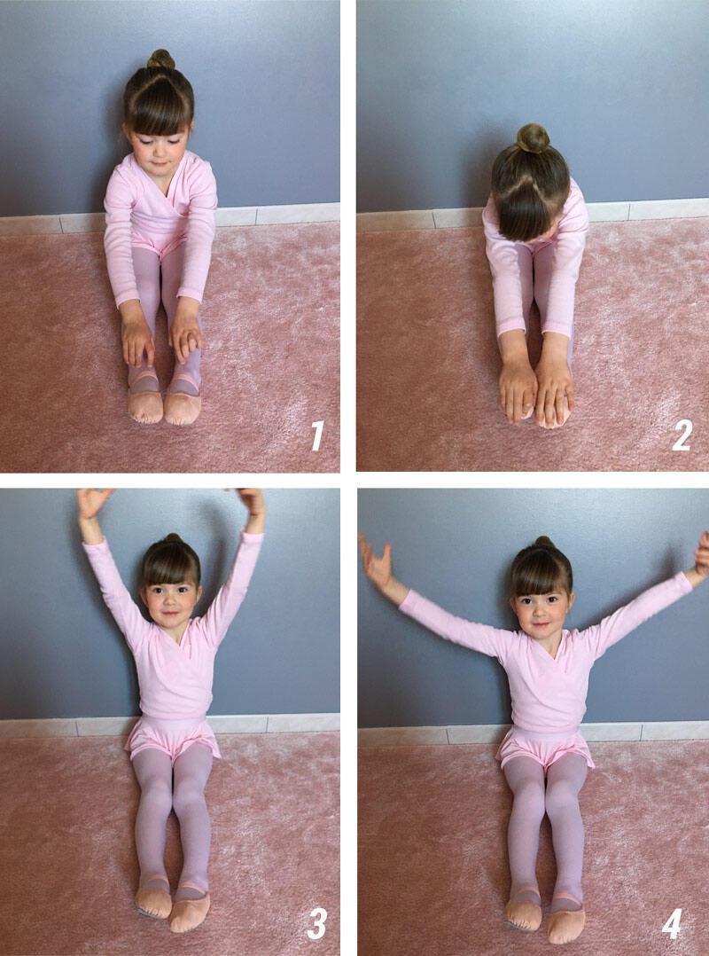 Danse à la maison l'exercice de la coccinelle