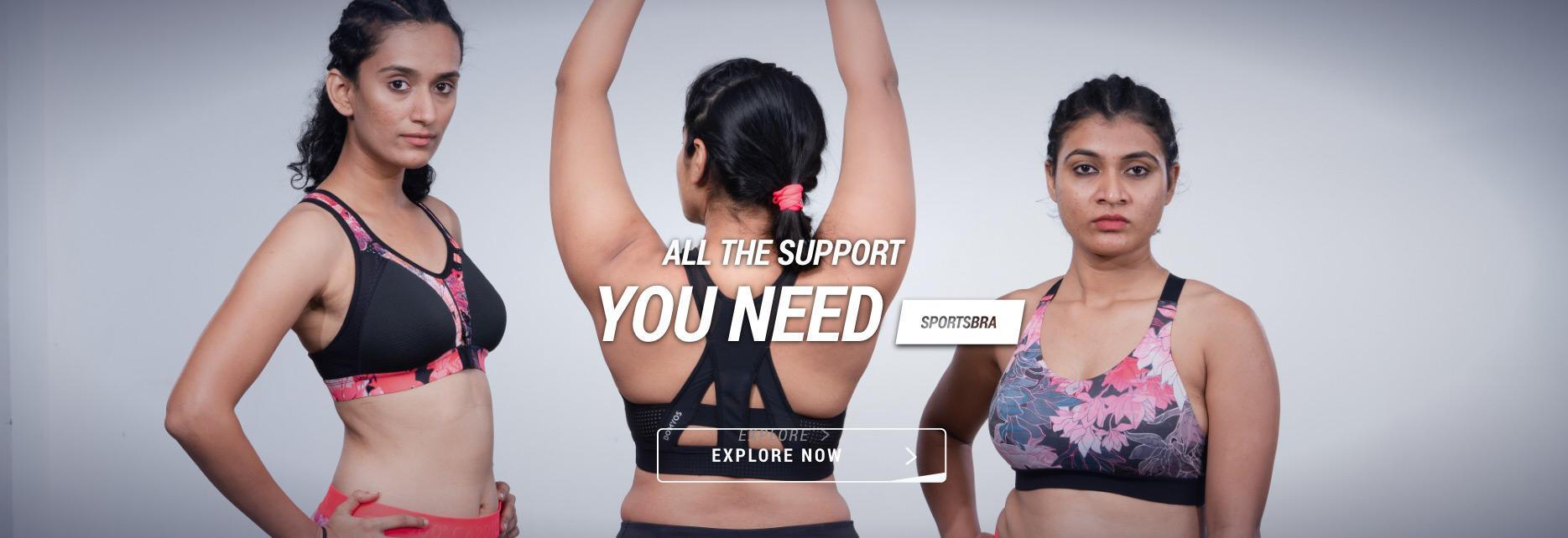 Women Sports Bra, Decathlon fitness bra